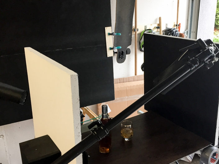 Making-Off Produktshooting Whisky