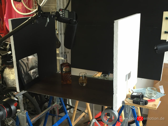 Making-Off Produktshooting Whisky